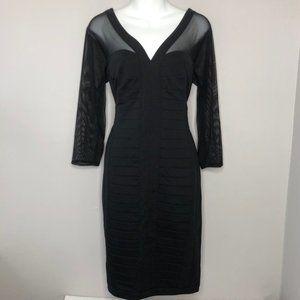 TADASHI SHOJI Black 3/4 Sleeve Bandage Dress Large